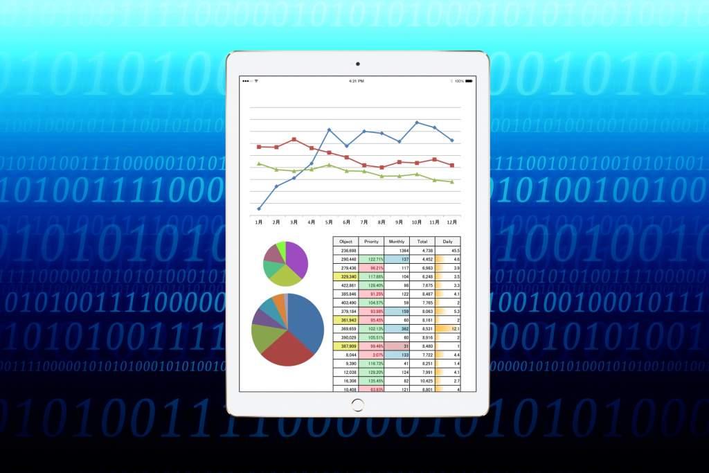 タブレットと資料 iPad