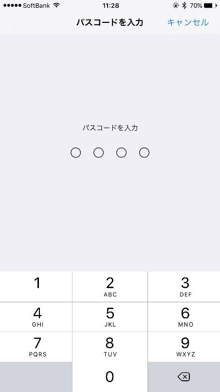iOS設定画面4
