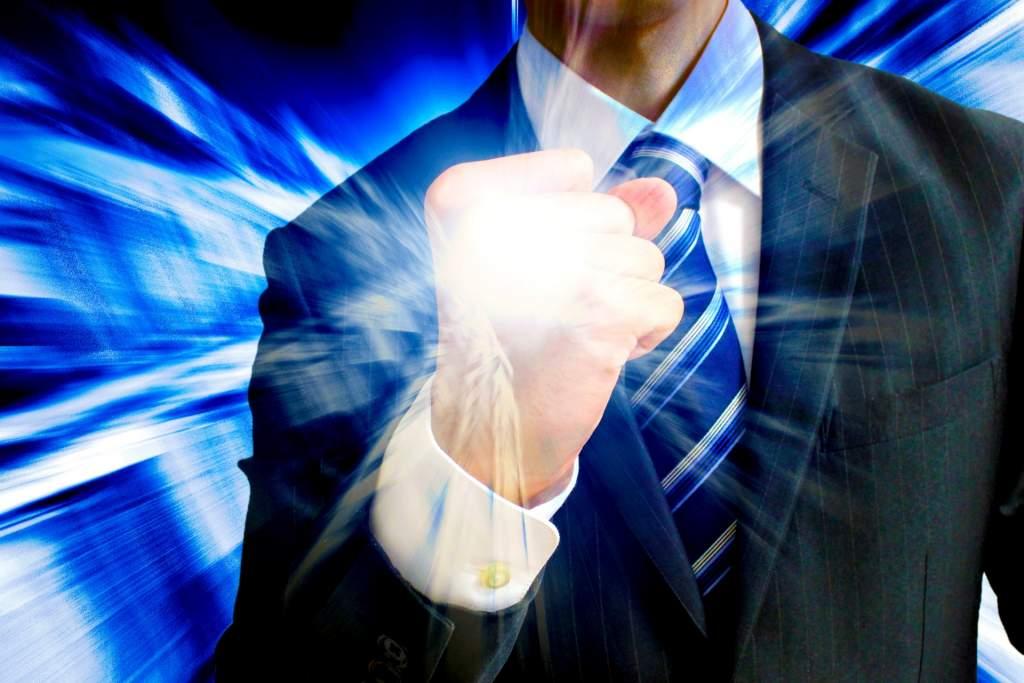 ビジネスマン パワーと可能性