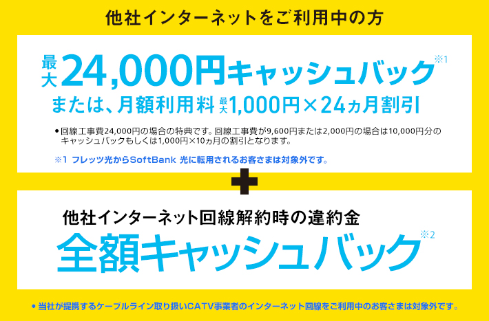 24000円キャッシュバック
