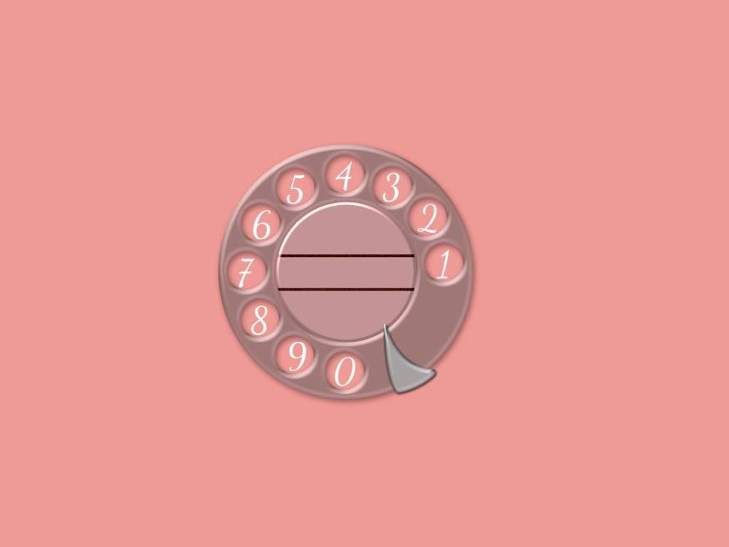 懐かしの電話ダイヤル背景ピンク