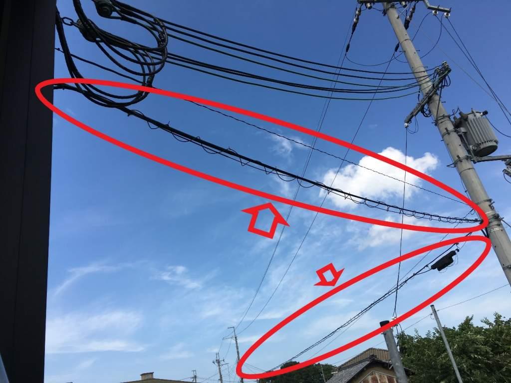 光回線の電線