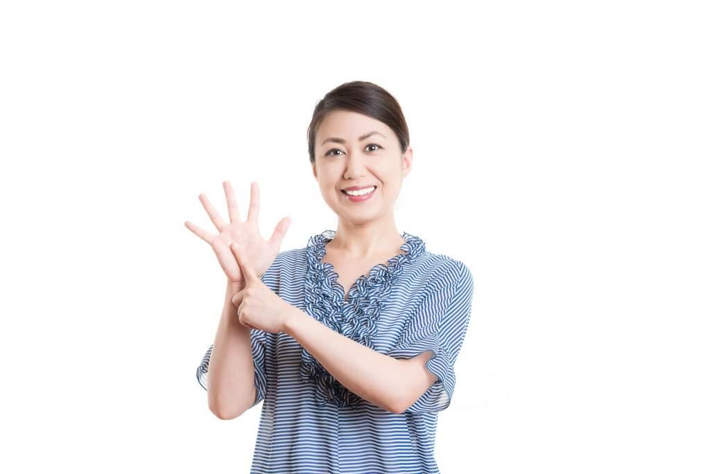 日本人女性 白背景