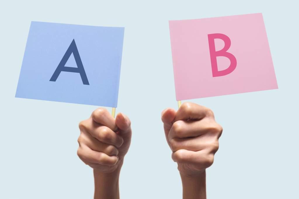 AとBの比較
