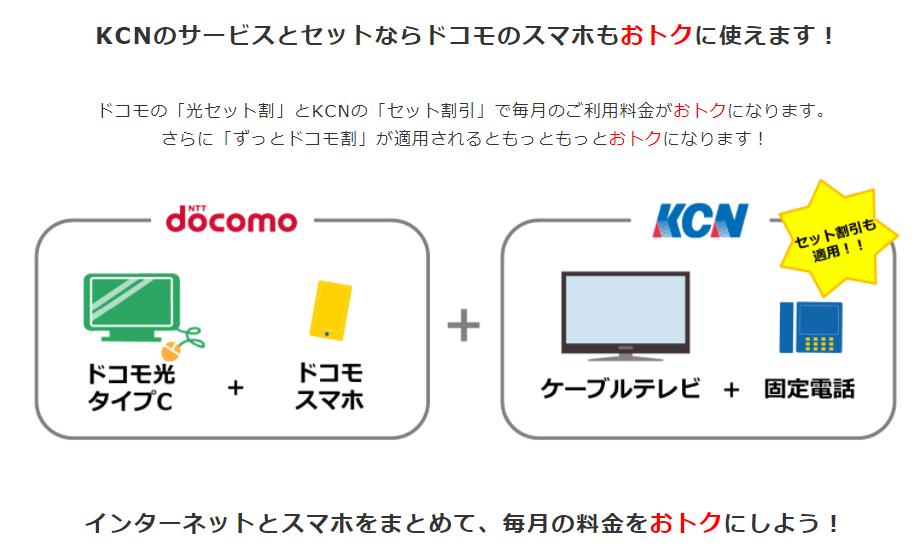 KCNのサービスとセットならドコモのスマホもおトクに使えます!