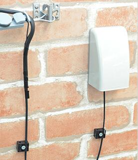 外壁への光キャビネット取り付け例