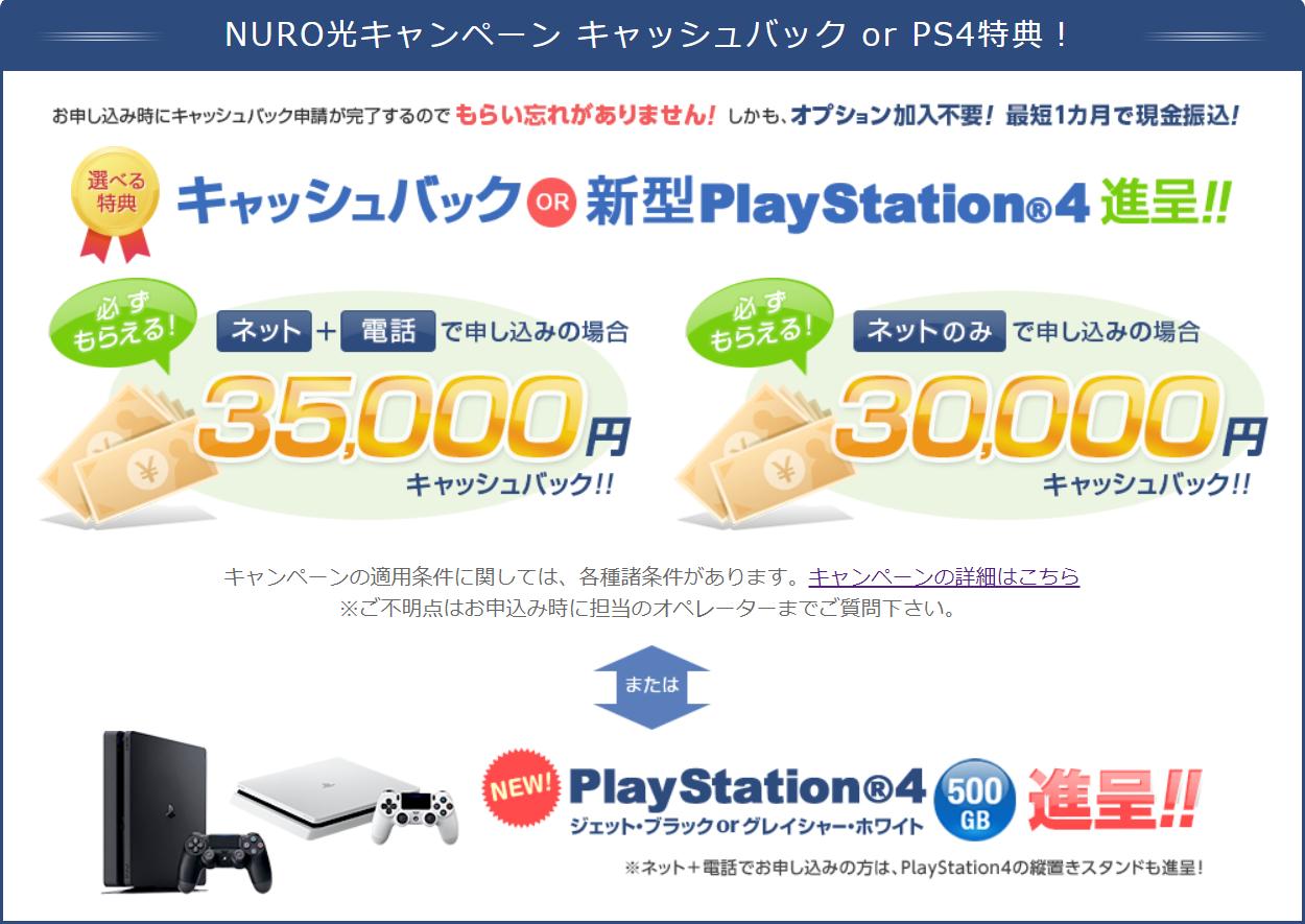 NURO光選べるキャンペーン