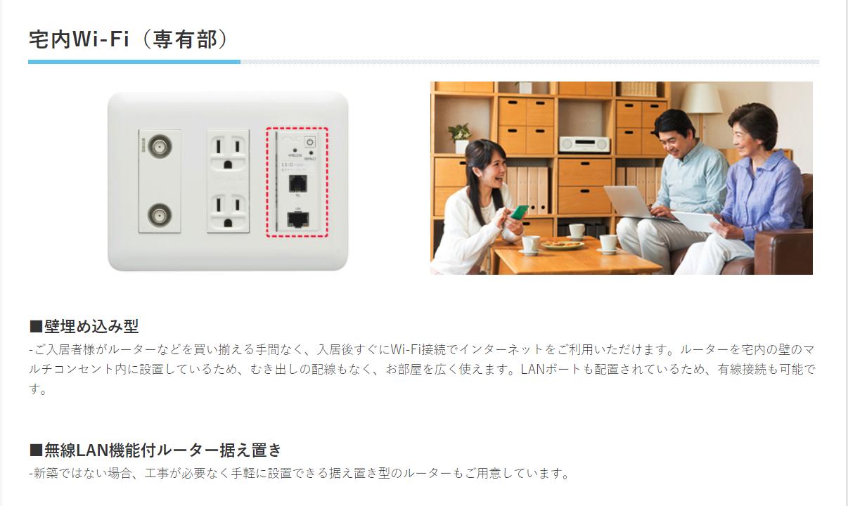宅内Wi-Fi(専有部)