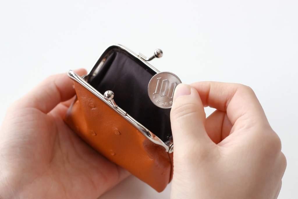 お財布と100円
