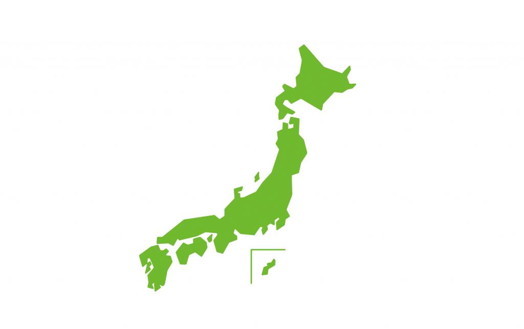 日本 地図 エリア