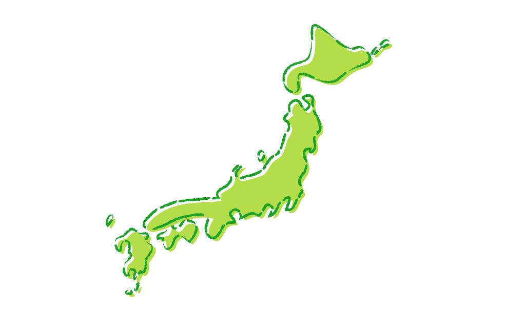 日本地図,エリア