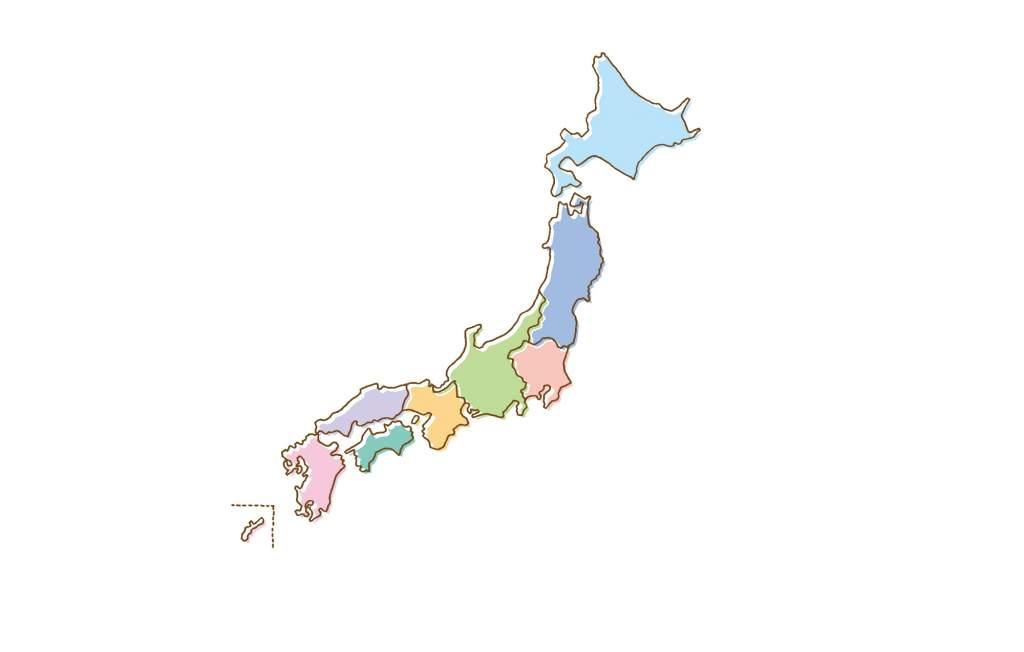 日本地図 エリア
