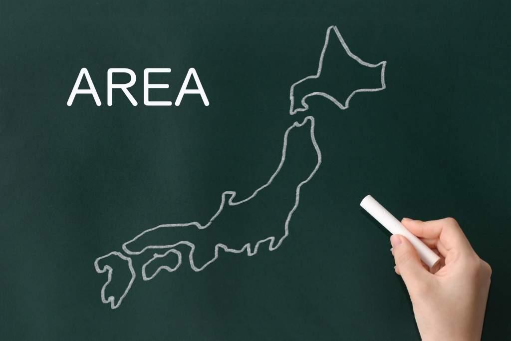 日本地図 マップ エリア