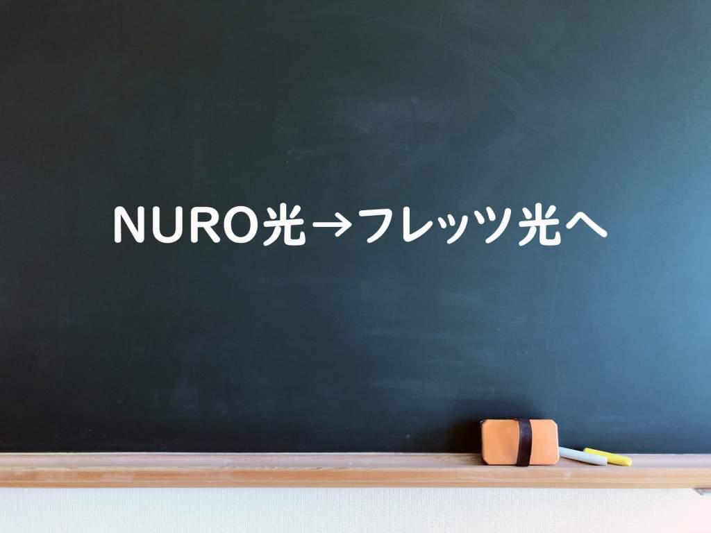 nuro光からフレッツ光