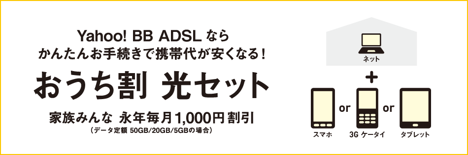 Yahoo!BB ADSL おうち割 光セット