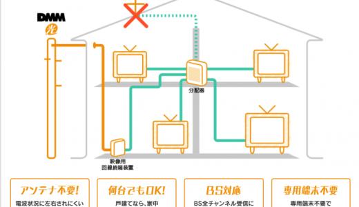 DMM光テレビとは?エリアや工事費などの詳細を解説!