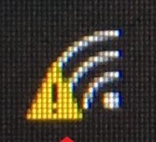 パソコンのwifi接続のビックリマーク