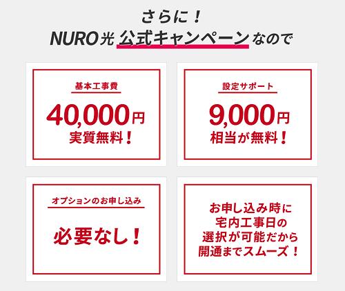 NURO光公式キャンペーン 内容