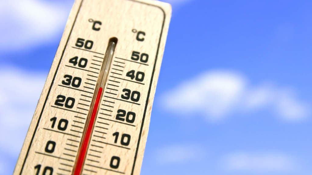 温度計 上昇