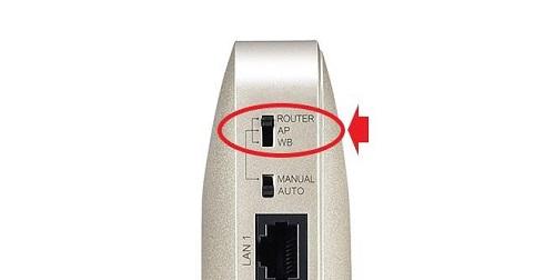 無線LANルーターの動作モード 背面 ツマミ