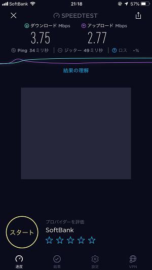 ソフトバンク Wi-Fiスポット 通信速度 測定値