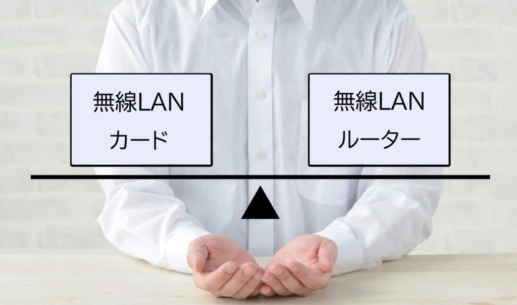 無線LANカードと無線LANルーターの違い