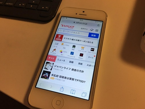 SIMなしiphone5 wifi接続OK