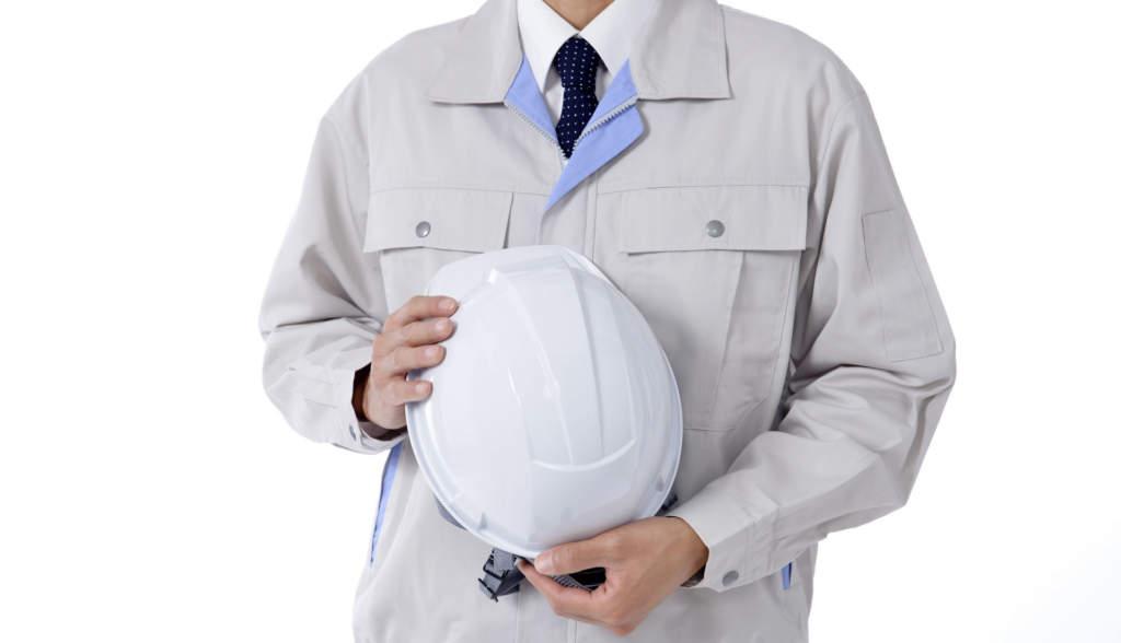 工事作業員の男性