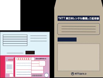 ONUの回収キットと伝票