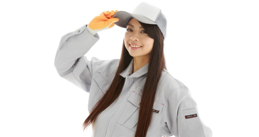 女性の作業員
