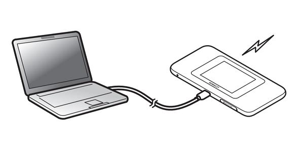モバイルルーター USB接続